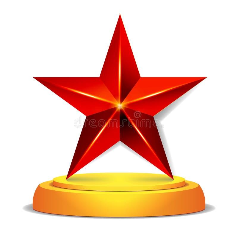 现代星奖 发光的传染媒介例证 战利品,挑战奖 美好的标签设计 查出 皇族释放例证