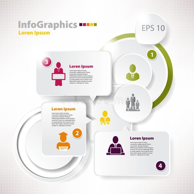 现代样式传染媒介泡影讲话infographic模板 库存例证