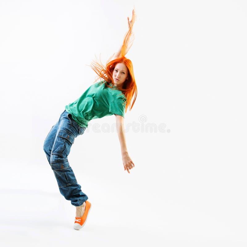 现代样式女性舞蹈家 免版税库存照片