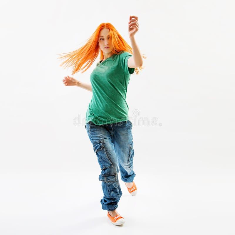 现代样式女性舞蹈家 免版税库存图片