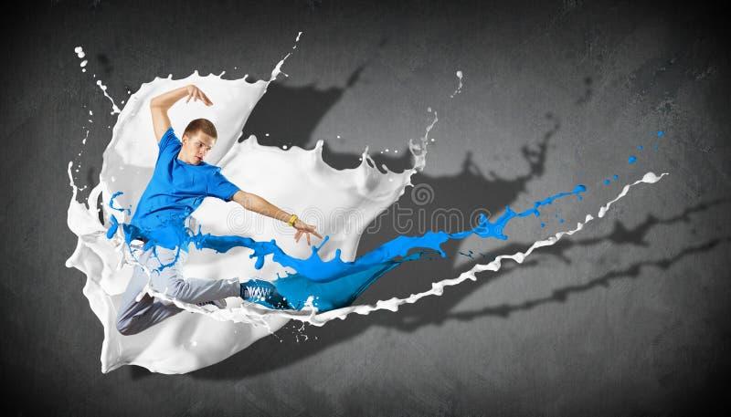 现代样式舞蹈家 免版税库存照片