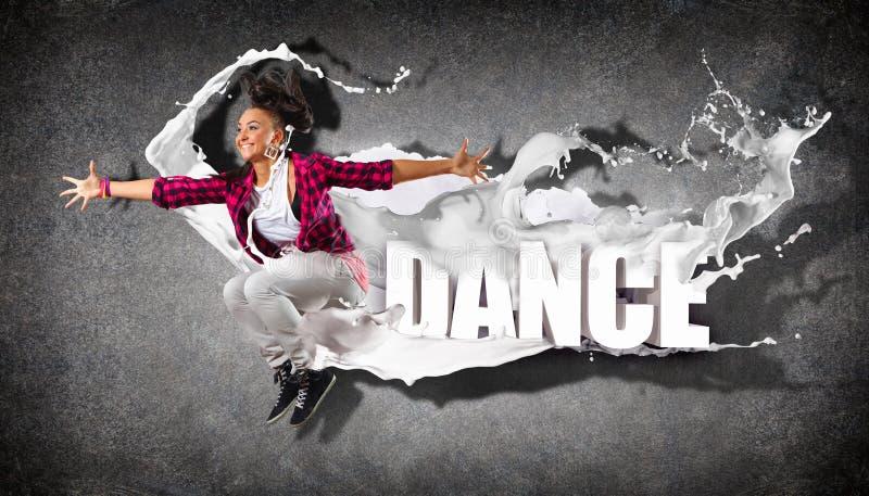 现代样式舞蹈家 免版税库存图片