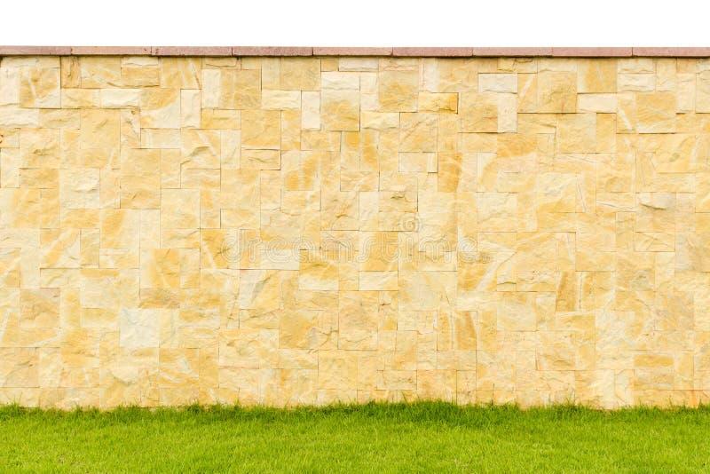 现代样式设计装饰篱芭真正的石头的样式颜色 图库摄影