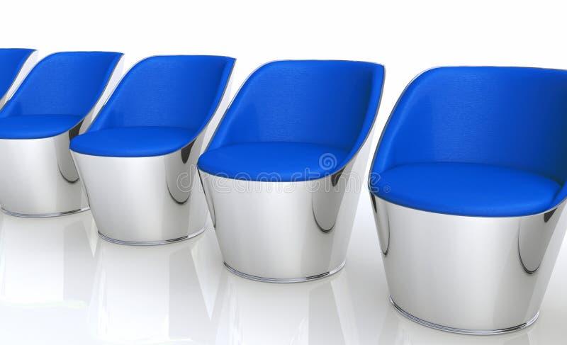 现代椅子行  向量例证