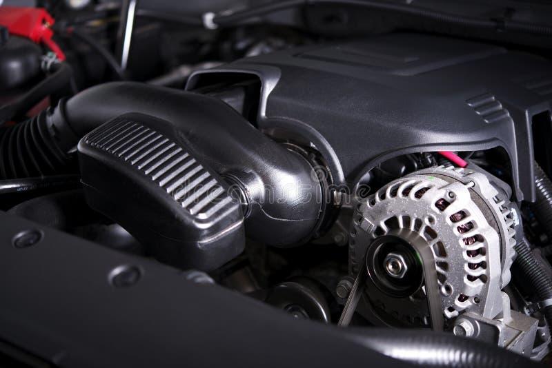 现代汽车交流发电机和引擎 库存照片
