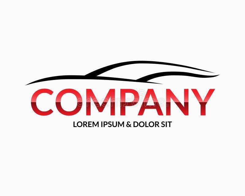 现代汽车商标设计模板 库存例证