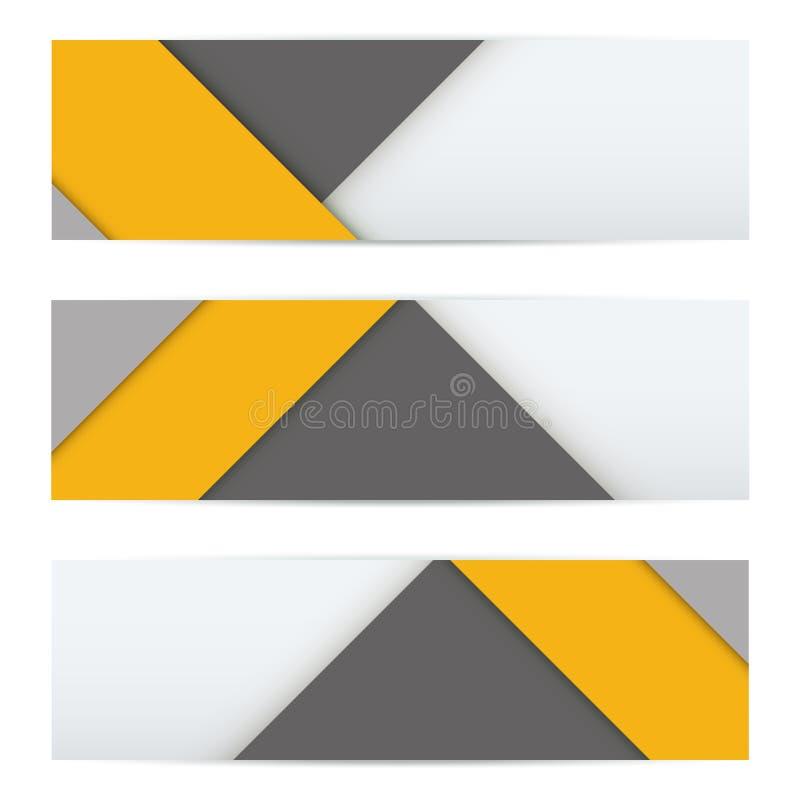 现代物质设计横幅  皇族释放例证