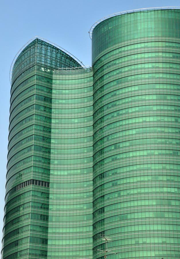 现代玻璃大厦抽象背景  库存照片