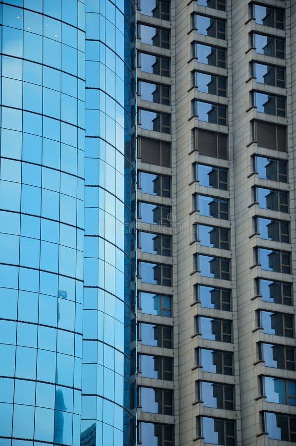 现代玻璃摩天大楼上海 库存照片