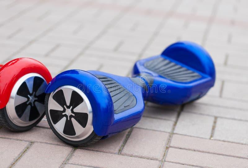 现代电微型segway翱翔委员会滑行车 免版税库存图片
