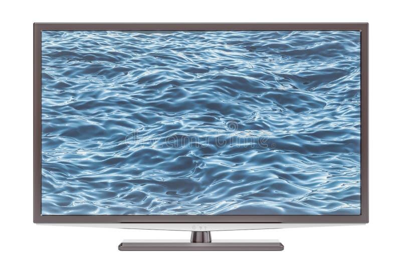 现代电视机, 3D翻译 库存例证