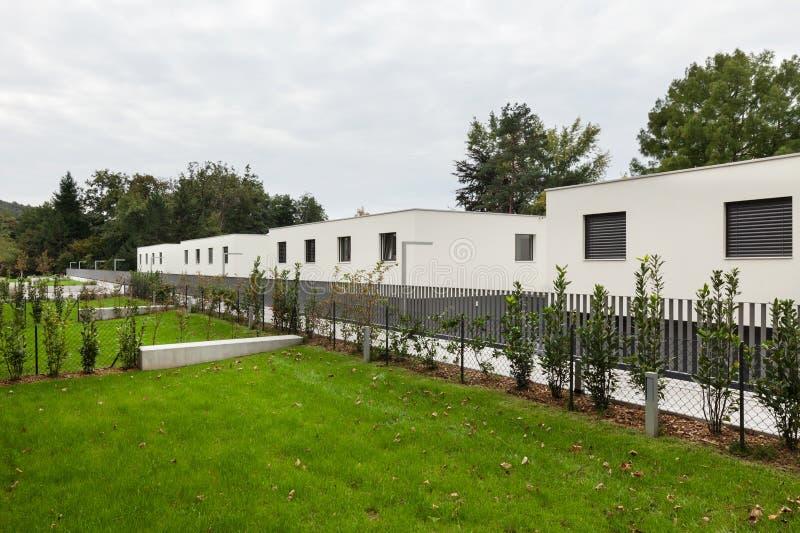 现代白色房子 图库摄影