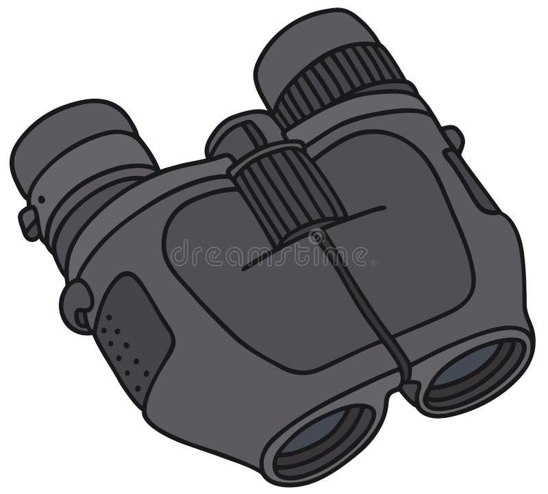 现代的双筒望远镜 库存例证