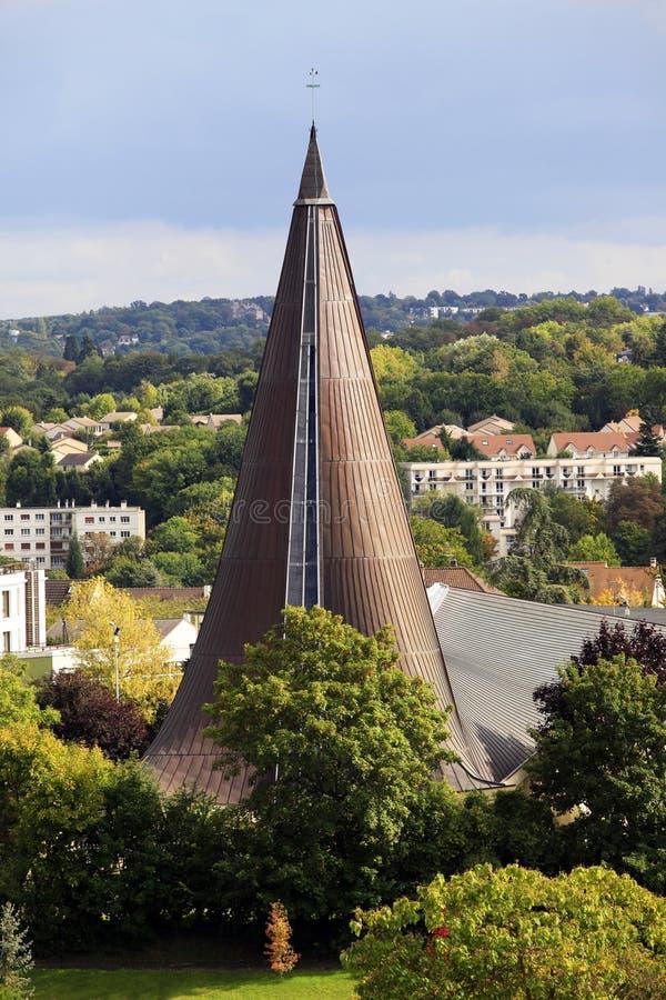 现代的教会 库存照片