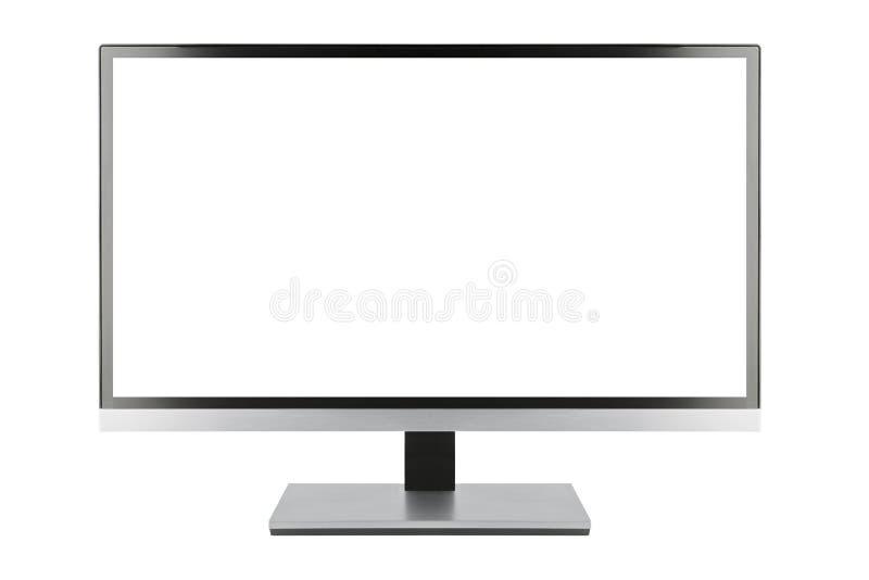 现代空白的平面屏幕电视机 皇族释放例证