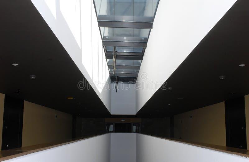 现代建筑学内部 免版税库存照片