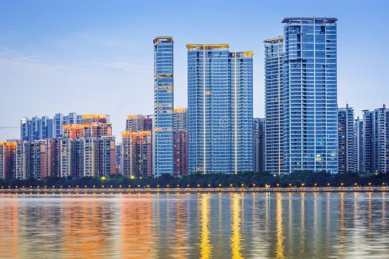 现代建筑学在广州,中国 免版税库存图片