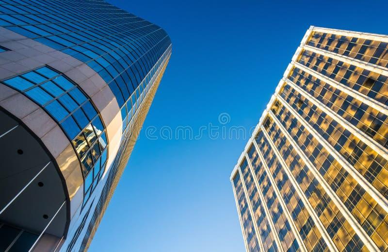现代建筑学在街市威明顿,特拉华 图库摄影