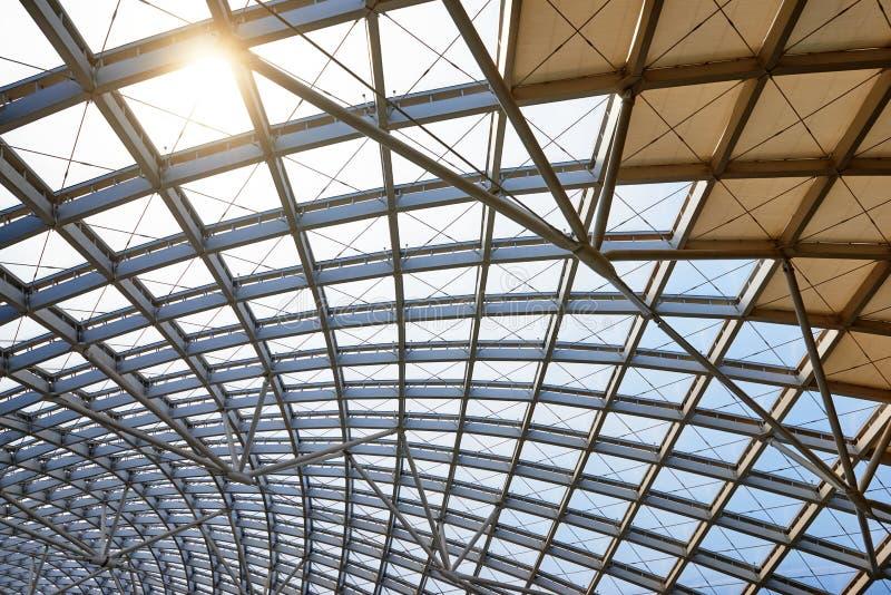 现代建筑学屋顶结构 免版税库存照片