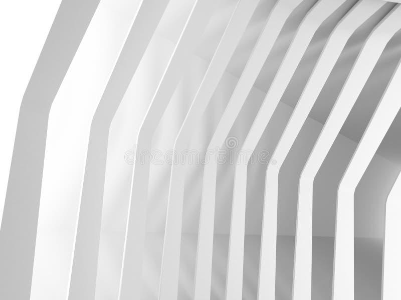现代建筑学设计白色背景 皇族释放例证