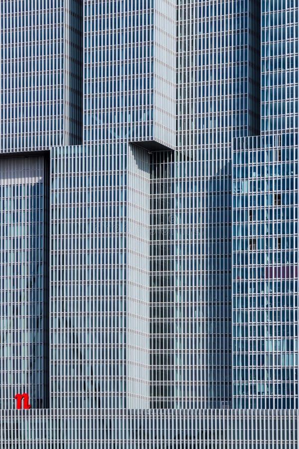 现代建筑学门面细节 免版税库存图片