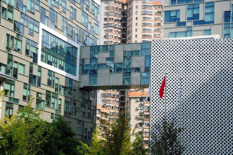 现代建筑被设计的大厦 免版税库存照片