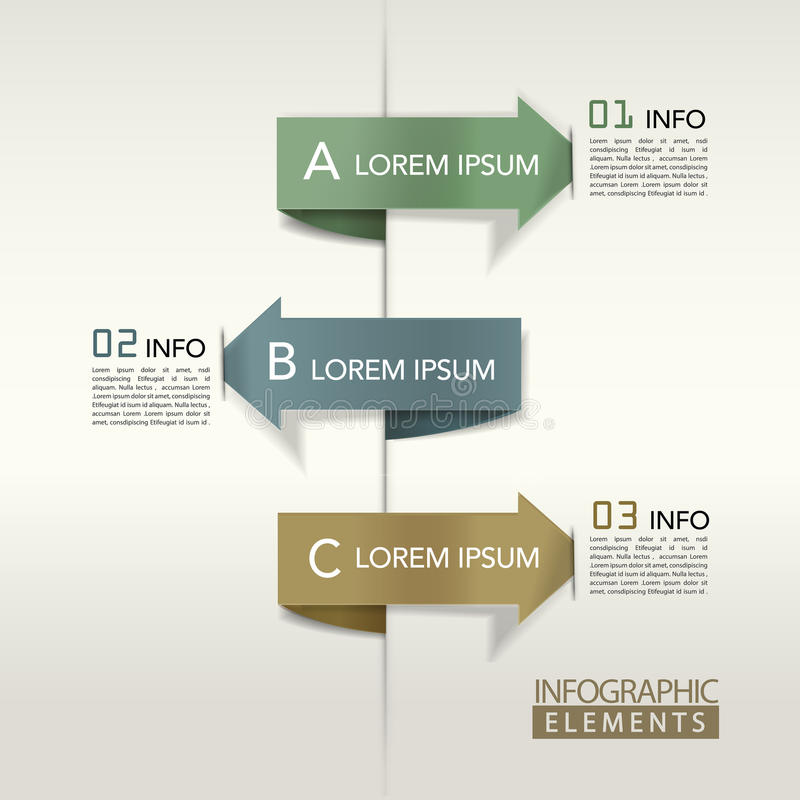 现代箭头长条图infographic元素 向量例证
