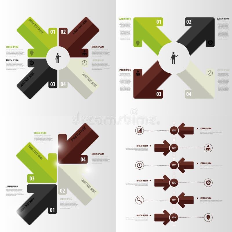 现代箭头infographic元素 到达天空的企业概念金黄回归键所有权 也corel凹道例证向量 库存例证