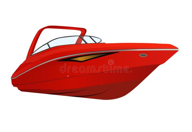 现代红色小船 库存照片