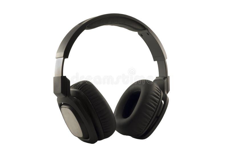 现代黑耳机 库存照片