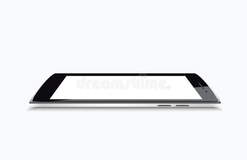 现代黑色高度详述了传染媒介智能手机顶视图 向量例证