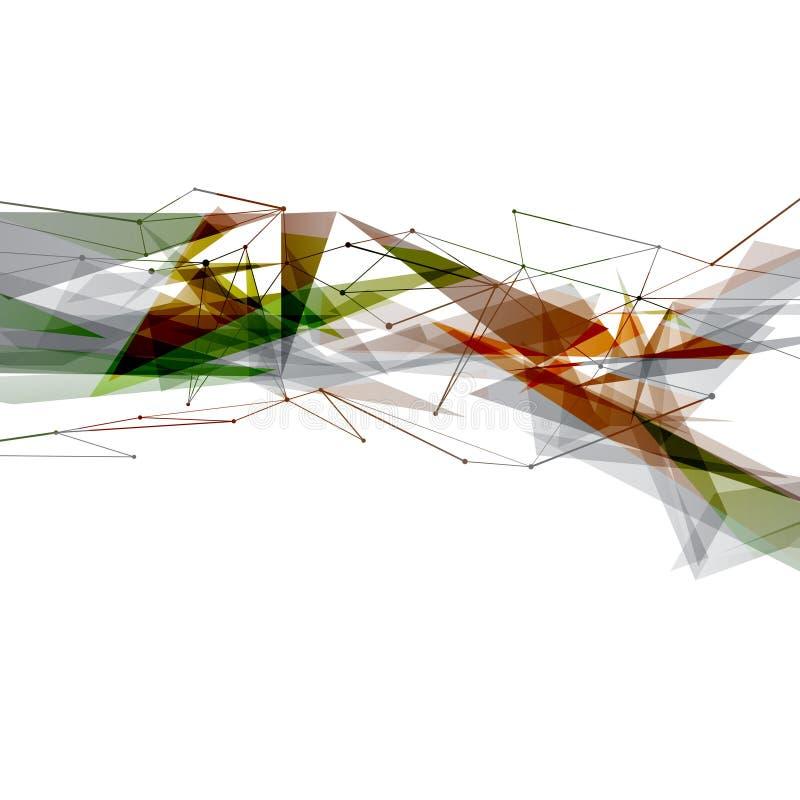 现代艺术摘要明亮的几何背景 库存例证