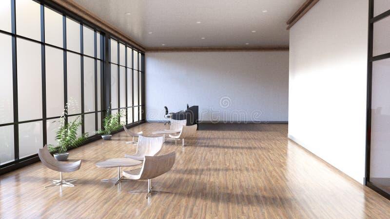 现代营业所空间,大厅 皇族释放例证