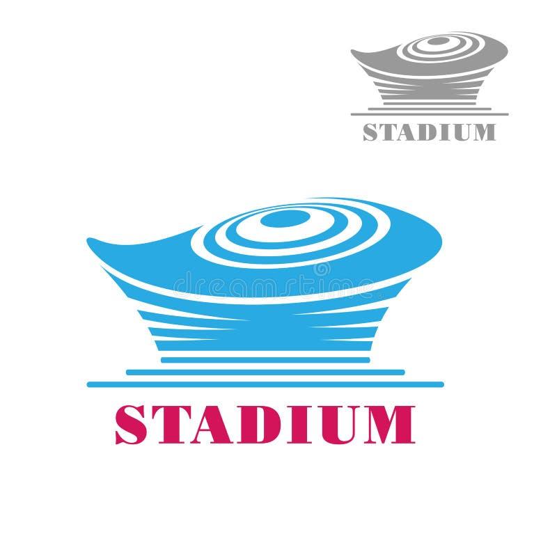 现代蓝色体育场或竞技场象 库存例证