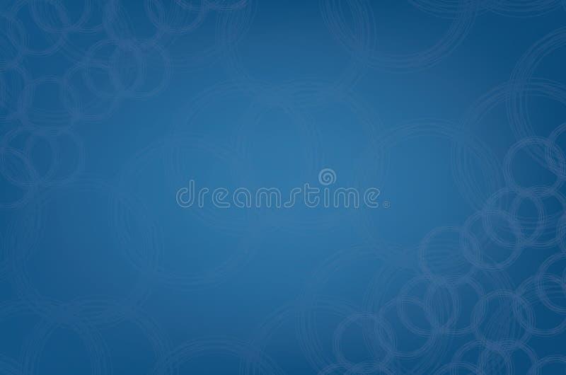 现代蓝色圆抽象小滴样式背景 库存例证