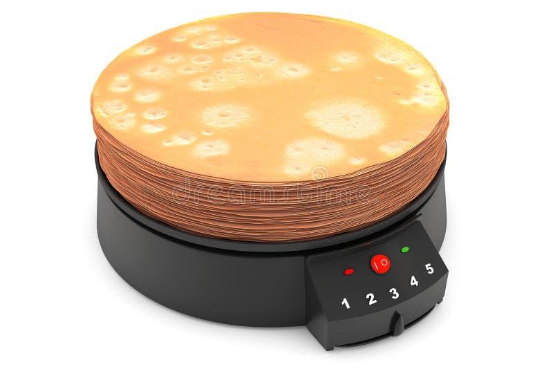 现代薄煎饼制造商 皇族释放例证