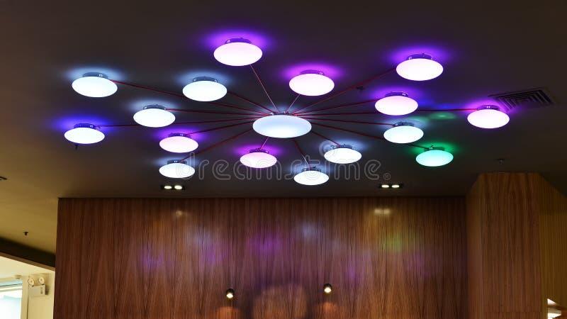现代被带领的天花板灯 免版税库存照片