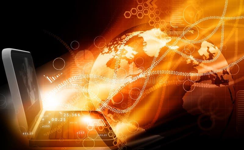 现代计算机科技 皇族释放例证
