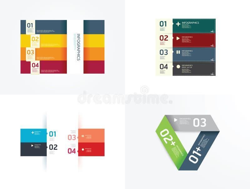 现代设计元素infographic模板集合 向量例证