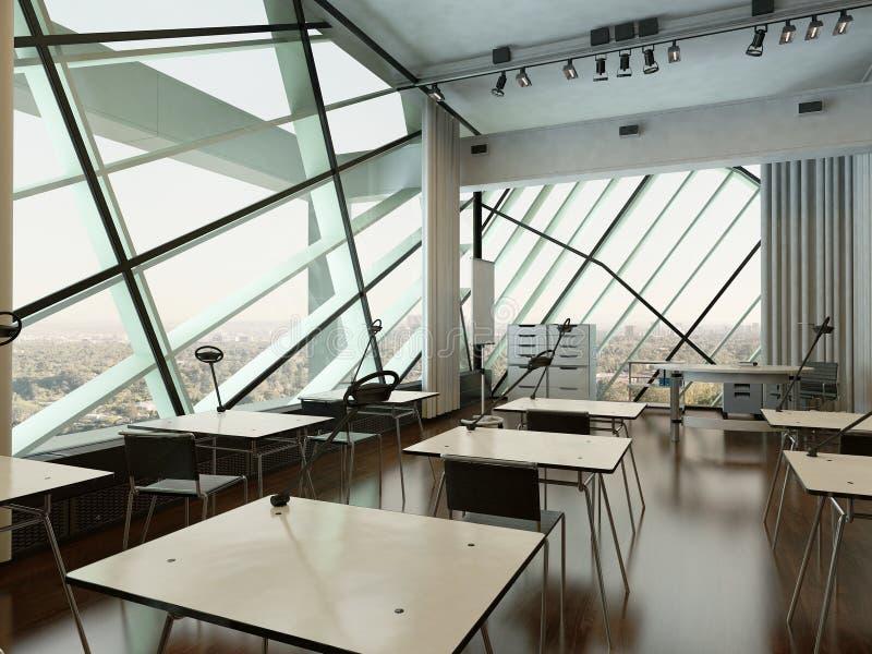 现代设计大学内部/会议室 皇族释放例证