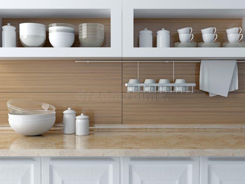 现代设计的厨房 库存例证