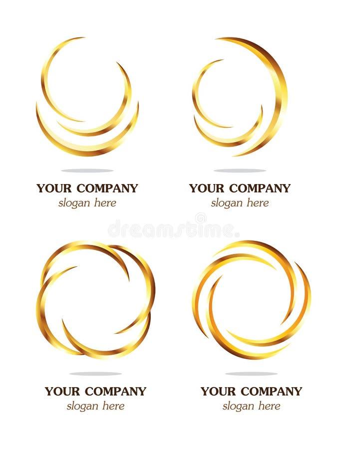 现代设计的徽标 库存例证