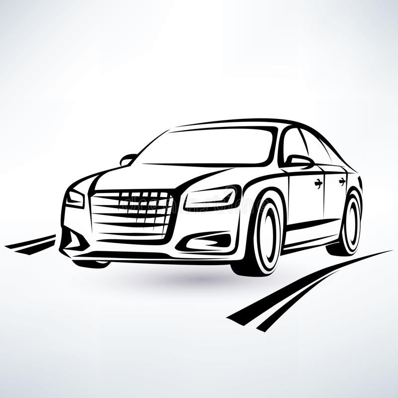 现代豪华汽车标志 皇族释放例证