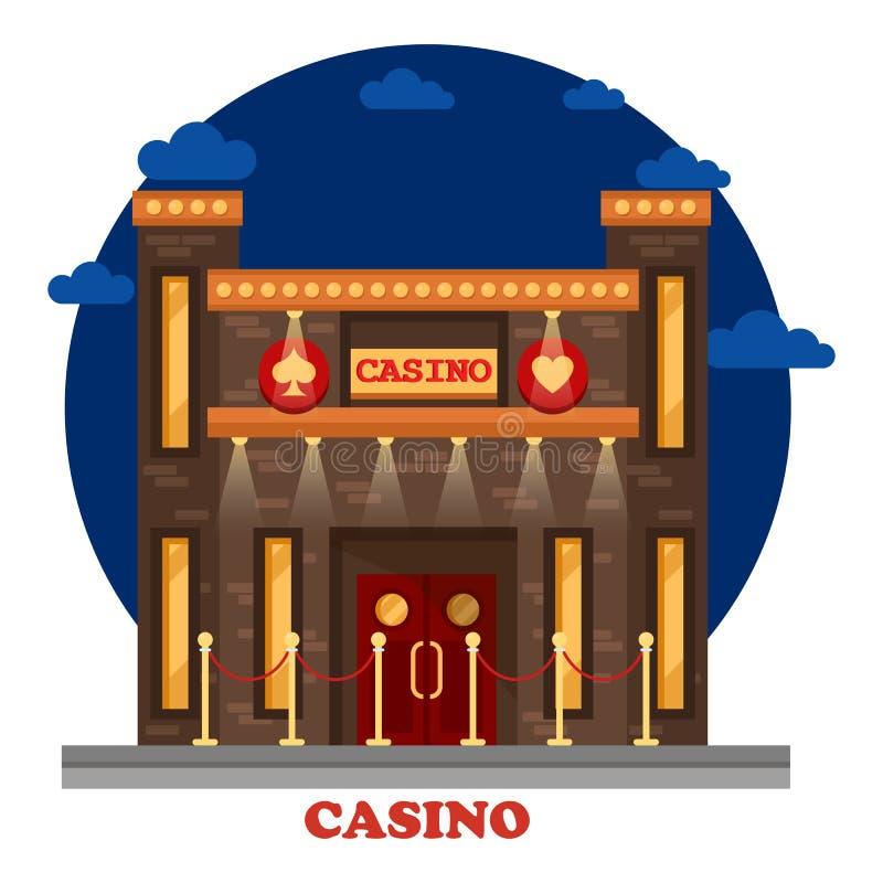 现代赌博娱乐场或赌博场所 皇族释放例证