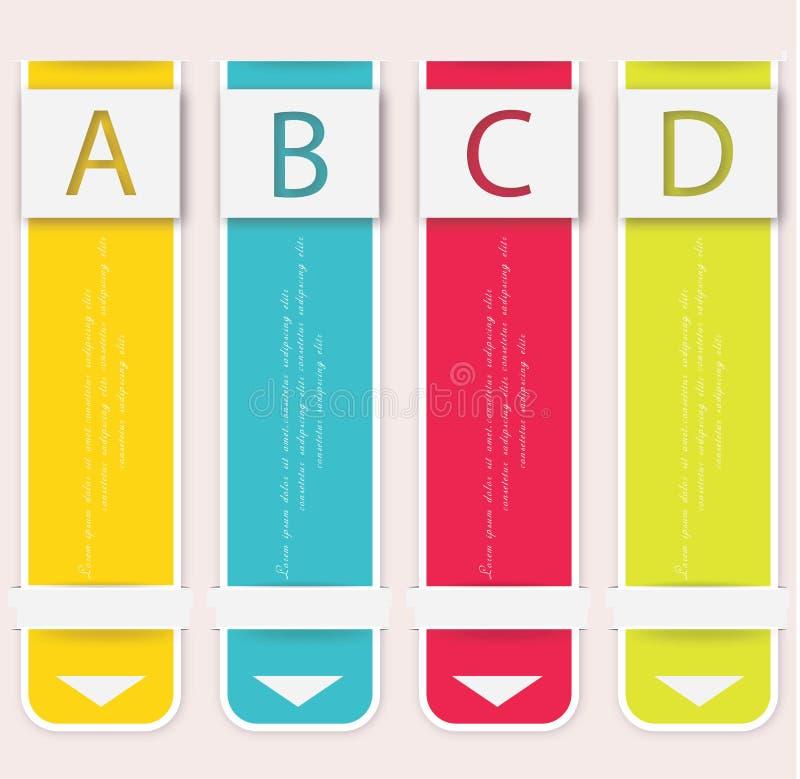 现代软的颜色设计模板。 库存例证