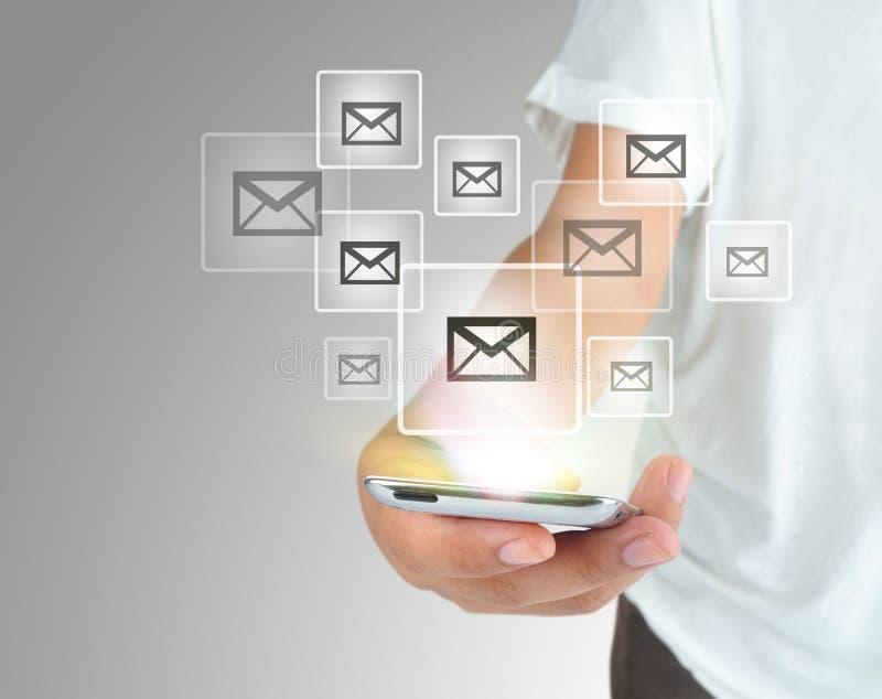 现代通讯技术手机 免版税库存照片