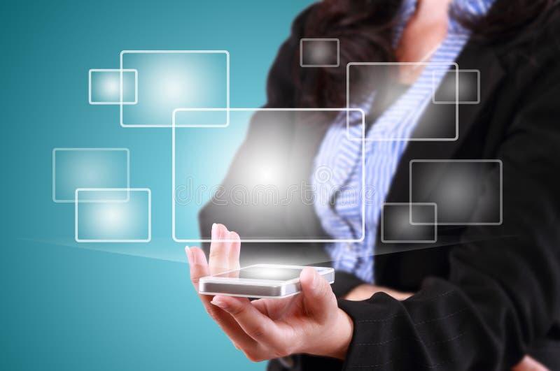 现代通讯技术手机 图库摄影