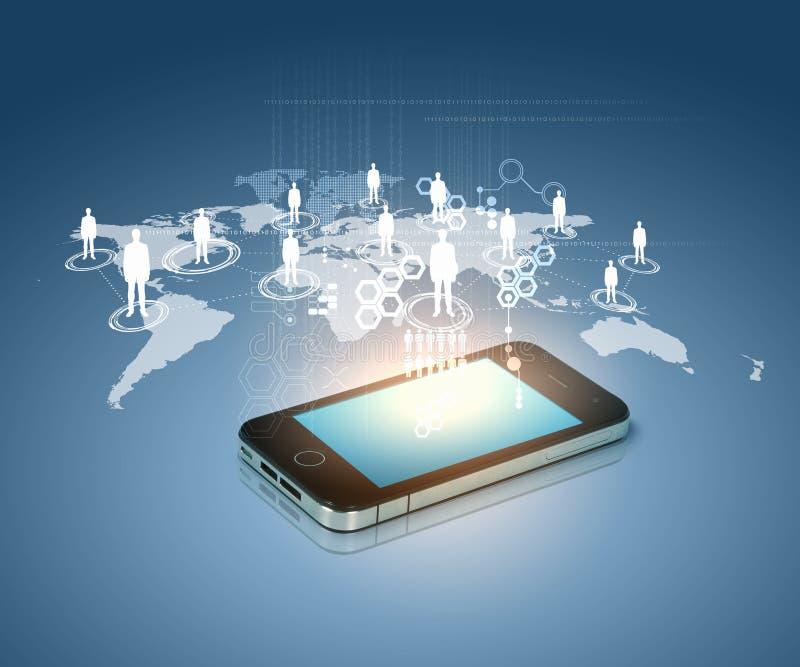现代通讯技术 向量例证