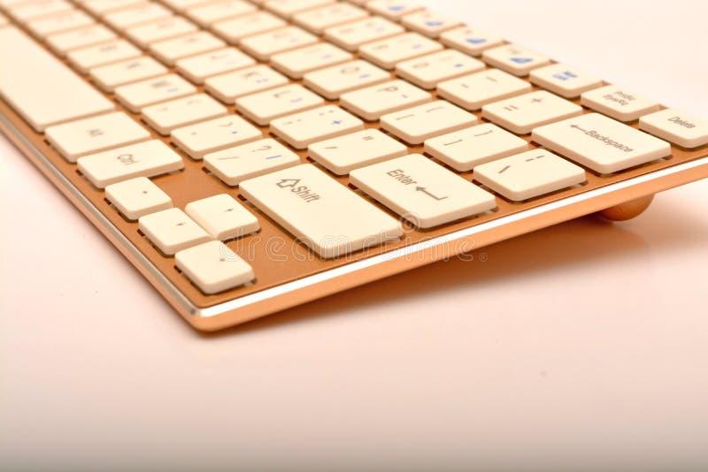现代键盘设计特写镜头视图 库存图片