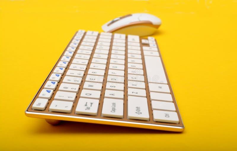 现代键盘设计特写镜头视图 免版税库存图片